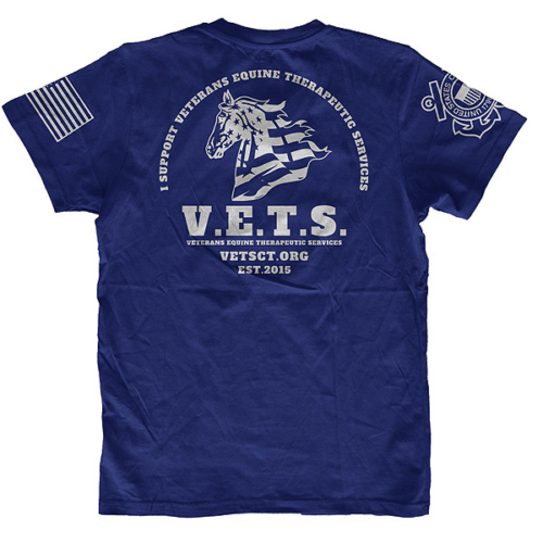 Photo of Blue Coast Guard T-shirt with VETS logo
